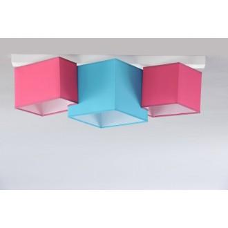 NAMAT 3760 | N3K-Puzzle Namat mennyezeti lámpa 3x E27 fehér, türkiz, rózsaszín