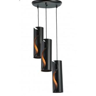 NAMAT 3790   Burn Namat függeszték lámpa 3x E27 matt fekete