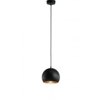 NAMAT 3831   Fauna Namat függeszték lámpa 1x E27 matt fekete, vörösréz