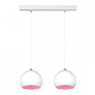 NAMAT 3845 | Luna Namat függeszték lámpa 2x E27 fehér, pink