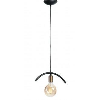 NAMAT 3899 | FalaNa Namat függeszték lámpa 1x E27 matt fekete, antikolt arany