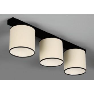 NAMAT 647 | Kada Namat mennyezeti lámpa 3x E27 fekete, krémszín