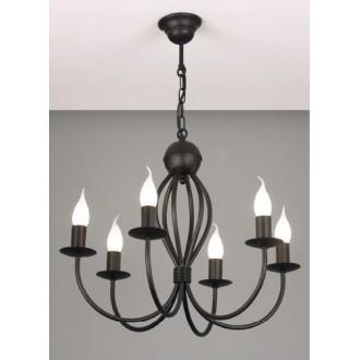 NAMAT 662 | Surmia Namat csillár lámpa 6x E14 matt fekete