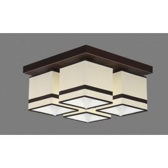 NAMAT 711/2 | Furia Namat mennyezeti lámpa 4x E27 fehér, barna