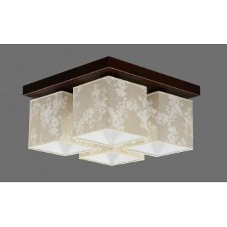 NAMAT 711/8 | Furia Namat mennyezeti lámpa 4x E27 barna, többszínű, fehér