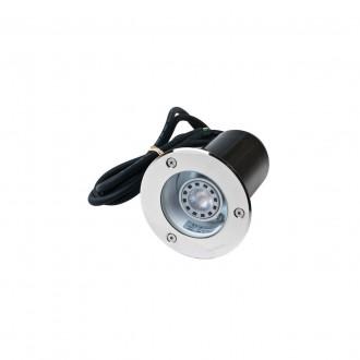 NORLYS 1550ST | Rena-NO Norlys beépíthető lámpa Ø85mm 1x GU10 375lm 3000K IP68 matt króm