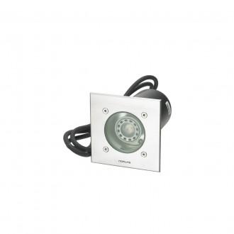 NORLYS 1551ST | Rena-NO Norlys beépíthető lámpa 130x85mm 1x GU10 375lm 3000K IP68 matt króm