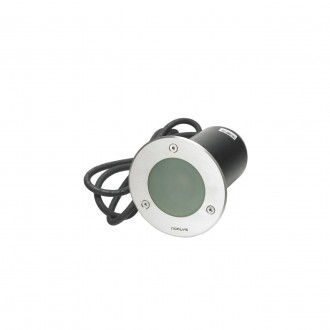 NORLYS 1554ST | Rena-NO Norlys beépíthető lámpa Ø85mm 1x GU10 375lm 3000K IP68 matt króm