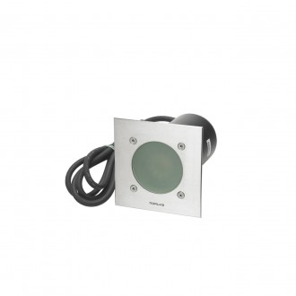 NORLYS 1555ST | Rena-NO Norlys beépíthető lámpa 130x85mm 1x GU10 375lm 3000K IP68 matt króm