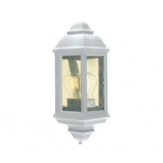 NORLYS 169W | Roma-NO Norlys fali lámpa 1x E27 IP54 fehér, átlátszó