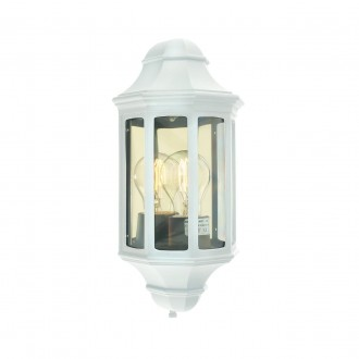 NORLYS 175W | Genova-NO Norlys fali lámpa 1x E27 IP54 fehér, átlátszó
