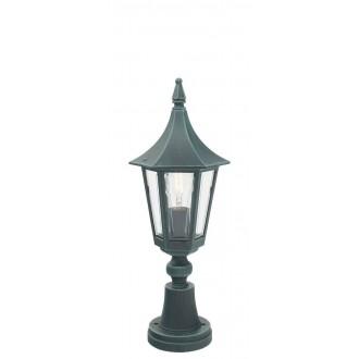 NORLYS 250BG | Rimini Norlys álló lámpa 47cm 1x E27 IP54 antikolt fekete, zöld, átlátszó