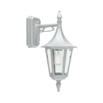 NORLYS 2591W | Rimini Norlys falikar lámpa 1x E27 IP54 fehér, átlátszó