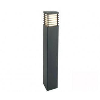 NORLYS 296GR | Halmstad Norlys álló lámpa 85cm 1x E27 IP65 grafit, opál