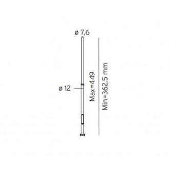 NORLYS 3006GR | Pillar-NO Norlys lámpaoszlop alkatrész állítható magasság IP65 grafit