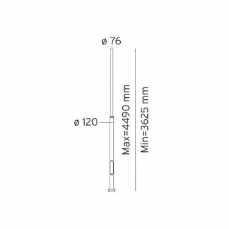 NORLYS 3007AL | Pillar-NO Norlys lámpaoszlop alkatrész állítható magasság IP65 alumínium