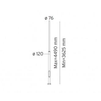 NORLYS 3007GR | Pillar-NO Norlys lámpaoszlop alkatrész állítható magasság IP65 grafit