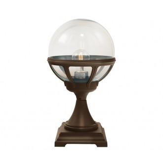 NORLYS 312BC | Bologna Norlys álló lámpa 43,5cm 1x E27 IP54 antikolt fekete, réz, átlátszó