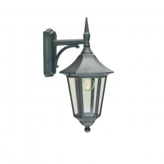 NORLYS 351B | Modena-NO Norlys falikar lámpa 1x E27 IP54 fekete, átlátszó