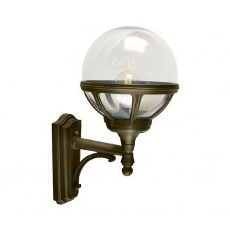NORLYS 360BD | Bologna Norlys falikar lámpa 1x E27 IP54 antikolt fekete, arany, átlátszó