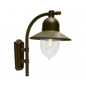 NORLYS 370BD | Como-NO Norlys falikar lámpa 1x E27 IP54 antikolt fekete, arany, átlátszó