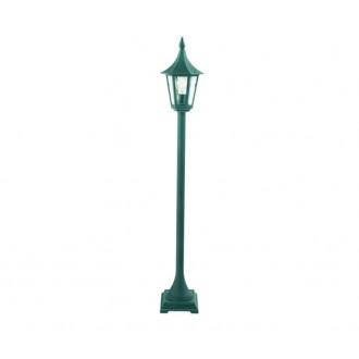 NORLYS 404BG | Rimini Norlys álló lámpa 114cm 1x E27 IP54 antikolt fekete, zöld, átlátszó