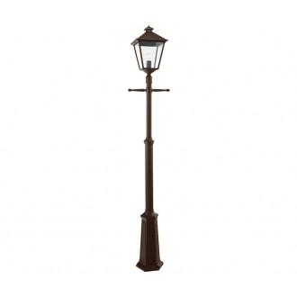 NORLYS 491BC | London-NO Norlys álló lámpa 191cm állítható magasság 1x E27 IP54 antikolt fekete, réz, átlátszó