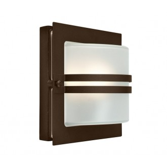 NORLYS 651BC | Bern Norlys fali lámpa 1x E27 IP54 antikolt fekete, réz, savmart