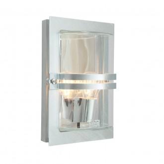 NORLYS 660GA | Basel Norlys fali lámpa 1x E27 IP54 szürke, átlátszó