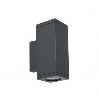 NORLYS 792GR | Sandvik Norlys falikar lámpa 2x GU10 265lm 2700K IP65 grafit