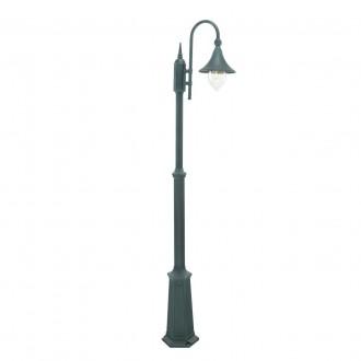 NORLYS 810BG | Firenze Norlys álló lámpa 193cm állítható magasság 1x E27 IP54 antikolt fekete, zöld, átlátszó