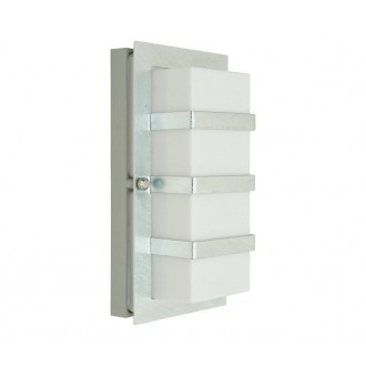 NORLYS 860GA | Boden Norlys fali lámpa 1x E27 IP54 szürke, opál, átlátszó