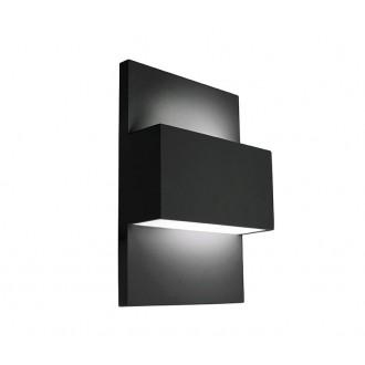 NORLYS 874B | Geneve Norlys fali lámpa 1x E27 IP54 fekete, szatén