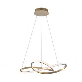 NOVA LUCE 1701101002 | Fusion-NL Nova Luce függeszték lámpa 1x LED 4081lm 3000K sárgaréz, fehér