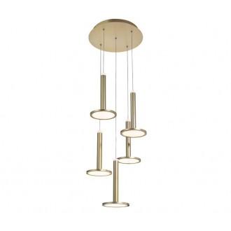 NOVA LUCE 1703301202 | Palencia Nova Luce függeszték lámpa 1x LED 1967lm 3000K sárgaréz