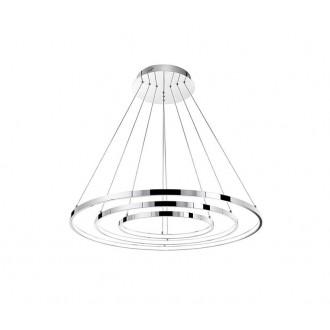 NOVA LUCE 17222004 | Aria-NL Nova Luce függeszték lámpa kerek elforgatható alkatrészek 1x LED 8100lm 3000K króm