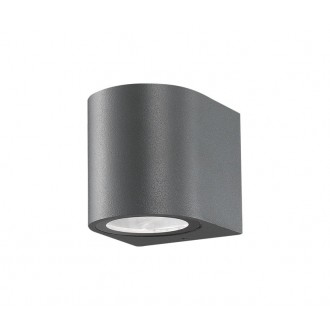NOVA LUCE 710021 | Nero-NL Nova Luce falikar lámpa 1x GU10 IP54 sötétszürke