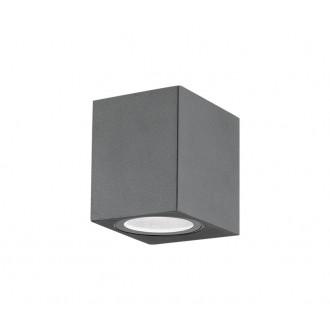 NOVA LUCE 710041 | Nero-NL Nova Luce fali lámpa 1x GU10 IP54 sötétszürke