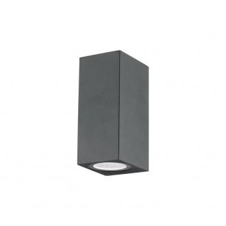 NOVA LUCE 710042 | Nero-NL Nova Luce fali lámpa 2x GU10 IP54 sötétszürke
