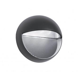 NOVA LUCE 710446 | Down Nova Luce fali lámpa 1x LED 480lm 3000K IP54 sötétszürke
