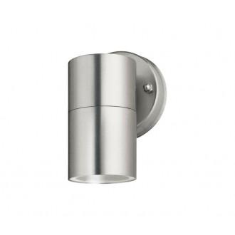 NOVA LUCE 713002 | Nodus-NL Nova Luce falikar lámpa 1x GU10 IP54 szatén nikkel