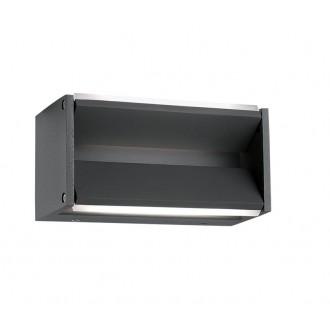 NOVA LUCE 713122 | Twin-NL Nova Luce falikar lámpa elforgatható alkatrészek 2x LED 600lm 3000K IP54 sötétszürke