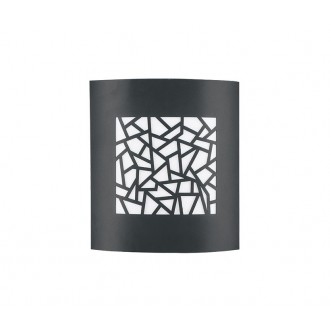 NOVA LUCE 713212 | Zenith Nova Luce fali, mennyezeti lámpa 1x E27 IP44 sötétszürke, fehér