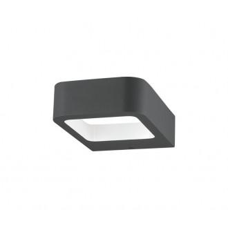 NOVA LUCE 713312 | Acqua-NL Nova Luce falikar lámpa 1x LED 320lm 3000K IP54 sötétszürke