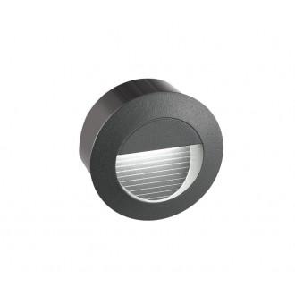 NOVA LUCE 726407 | Krypton Nova Luce beépíthető lámpa Ø80mm 1x LED 270lm 3000K IP54 sötétszürke