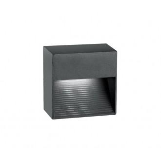 NOVA LUCE 726408 | Down Nova Luce fali lámpa 1x LED 270lm 3000K IP54 sötétszürke