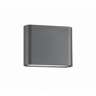 NOVA LUCE 740401 | Soho-NL Nova Luce fali lámpa 2x LED 480lm 3000K IP54 sötétszürke