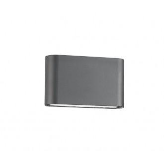 NOVA LUCE 740404 | Soho-NL Nova Luce fali lámpa 2x LED 800lm 3000K IP54 sötétszürke