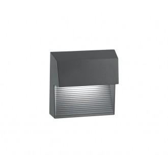 NOVA LUCE 752250 | Down Nova Luce fali lámpa 1x LED 480lm 3000K IP54 sötétszürke