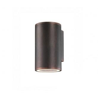 NOVA LUCE 773222 | Nodus-NL Nova Luce falikar lámpa 1x GU10 IP54 antikolt barna